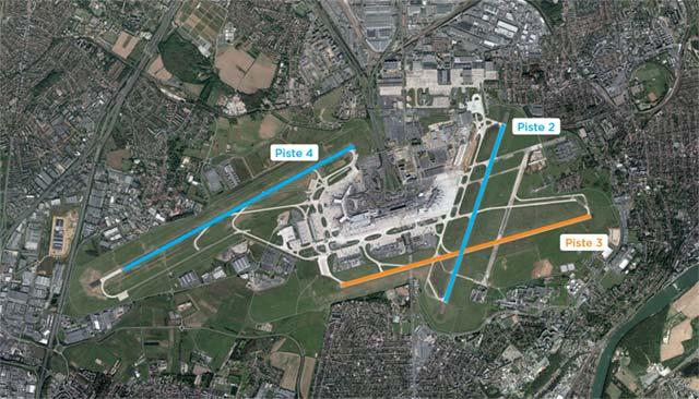 Détail des pistes de l'aéroport d'Orly, Discount Parc (crédit photo ADP)